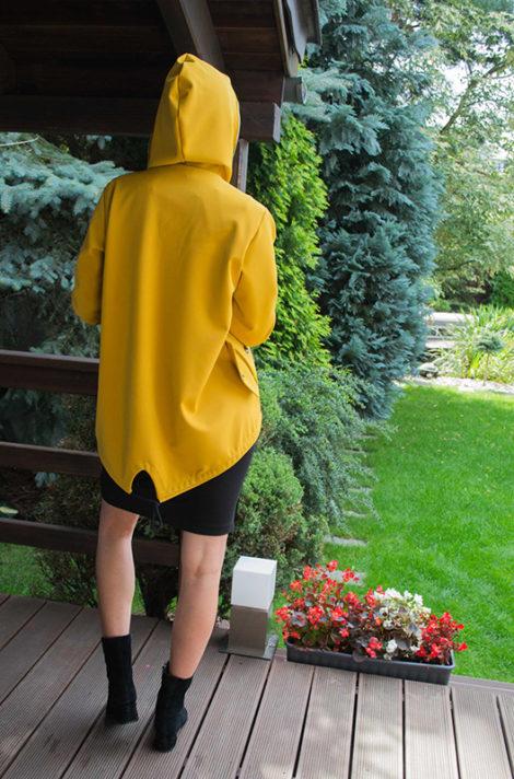 Musztardowa kurtka dla kobiet