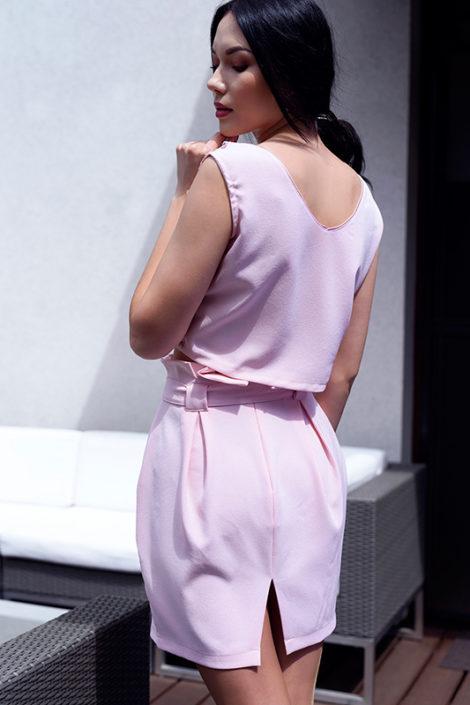 Spódniczka z paskiem w kolorze różowym