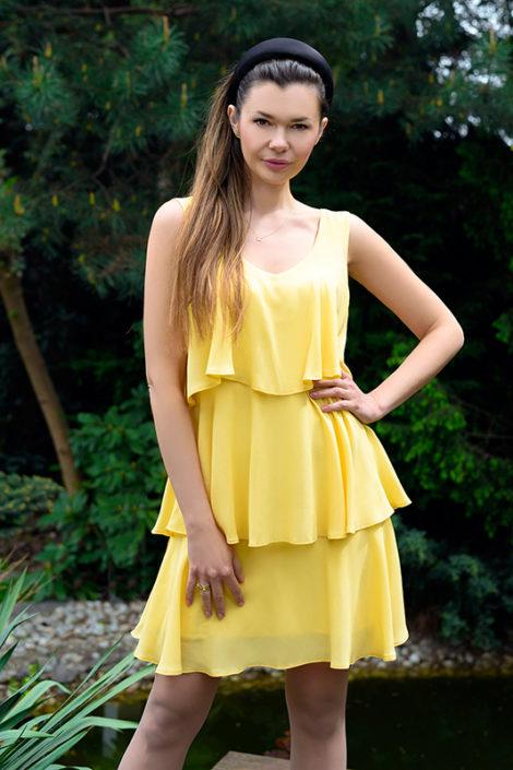 zolta-sukienka-z-falbanami